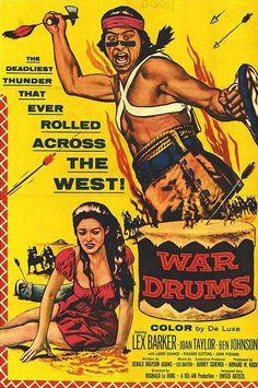 1957 War Drums movie poster