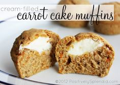 Positively Splendid {Crafts, Sewing, Recipes and Home Decor}: Cream-Filled Carrot Cake Muffins