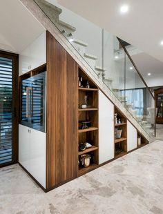 Stairway storage understairs storage storage under stairs staircase contemporary… Under Staircase Ideas, Staircase Banister Ideas, Storage Under Staircase, Stairway Storage, Stair Shelves, Staircases, Cabinet Under Stairs, Space Under Stairs, Staircase Contemporary