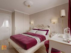 Фото: Дизайн спальни - Трехкомнатная квартира в Пушкине в стиле легкой классики, 73 кв.м.