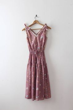 Super adorable floral dress from the 1970s.