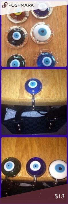 Evil eye purse holder Keep your purse clean, stay protected and in style. #evileye #mati #protection #cleanpurse #purseholder #trendy #fun #instyle Colors available are blue, white, green, black and yellowish/orange. The cost is for one purse holder. Pick the color of your choice. Accessories Key & Card Holders