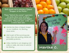 Martha C. - the consummate professional when it comes to picking the best groceries.