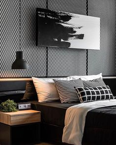 47 Modern Bedroom Interior Design Bedroom Ideas Home Decor Modern House Design, Modern Interior Design, Masculine Interior, Modern Man, Luxury Interior, Bed Room Design Modern, Interior Ideas, Bedroom Interior Design, Hotel Room Design