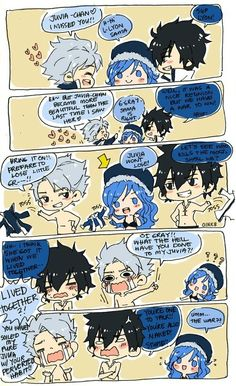 Poor Poor Juvia... She Got Gray and Lyon's Habbit by Living with Gray