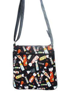 9c7c67d8b5 US HANDMADE FASHION KITTI KOKESHI ASIAN JAPANESE Pattern Cross Over body Shoulder  bag Style Handbag Purse. Crossbody ...