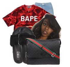 """""""Untitled #508"""" by kamryntyera ❤ liked on Polyvore featuring Topshop, A BATHING APE, Puma, Nephora and Gucci"""