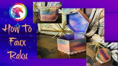How To Faux Raku - YouTube Sealing Wood, Plain Wooden Boxes, Water Based Stain, Color Blending, Painting Techniques, Unicorn, Arts And Crafts, Diy Projects, Wood Stain