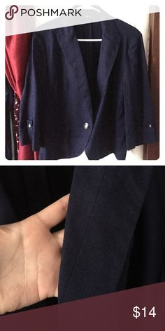 Chic business jacket Bought for a Christmas party for work a year ago and never wore it, in perfect condition, navy blue color BCX Jackets & Coats Blazers