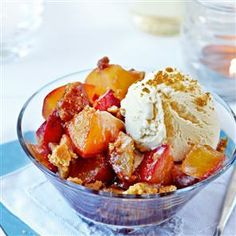 Cinnamon Baked Fruit-try peaches, mango & banana with gingersnaps