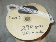 BOLT 1 290 YARD BOLT PRETTY IVORY LACE 20MM WIDE SPECIALS OFFERS AVAILABLE FROM www.vintagelaceweddingcards.co.uk