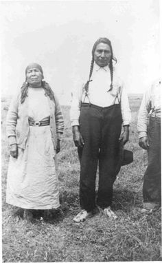 Flag and his wife - Blackfoot (Northern Peigan) - 1937