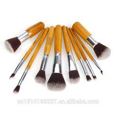 Magnetic wood makeup brush 10pcs/set, make up brush set professional
