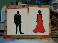 Card using Papertrey Ink's couple die.