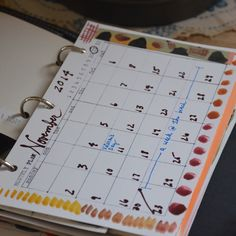 Mary Ann Moss @ dispatch from LA used my monthly template!!  Download here: http://ahhh-design.com/day-week-month-5-5-x-8-5-templates/ #diyplanner