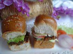 Vegetarian Bean Burger- Mini Veggie Burger Recipe