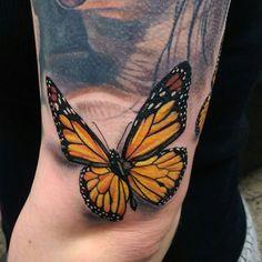 Butterfly Tattoo by Matt Jordan