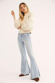 9781b31be Denim Super Flare Jeans Super Flare Jeans, Denim Flare Jeans, Flare Jeans  Outfit,