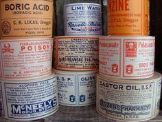 70 Antique Medical Pharmacy and Drug Co. Labels by reginasstudio, $12.95