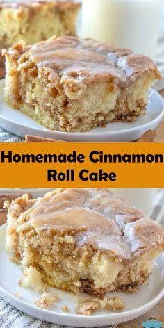 Easy Desserts, Delicious Desserts, Amazing Dessert Recipes, Quick Dessert, Sweet Desserts, No Bake Desserts, Yummy Treats, Cinnamon Cake, Cinnamon Roll Recipes