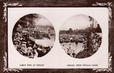 HENLEY ON THAMES - Double view postcard), Lunch Time and River, Oxfordshire in Collectables, Postcards, Topographical: British, England, Oxfordshire | eBay