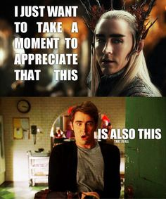 Thranduil, King of the Elves, Maker of Pies. All I could think about when I first saw him
