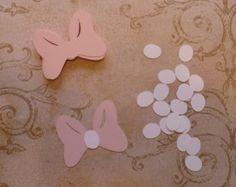 20 piezas de Minnie Mouse formas rosa arco por sandylynnbscrapping