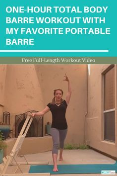 The new Booty Kicker portable barre is a game changer for at-home barre workouts! Join me for a one-hour total body barre workout using the Booty Kicker and no other equipment. This one totally sculpts your butt, while also toning the entire body! Ballet Barre Workout, Barre Moves, Barre Workout Video, Barre Exercises At Home, Dance Workout Videos, Workout Videos For Women, Plank Workout, Butt Workout, Barre Workouts