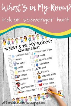 Free Printable Bedroom Scavenger Hunt for Kids
