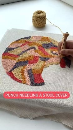 Diy Embroidery, Embroidery Stitches, Embroidery Patterns, Crochet Projects, Sewing Projects, Diy Projects, Punch Needle Patterns, Yarn Crafts, Needlework