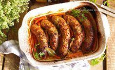 Obiad gotowy!: Biała kiełbasa z pieca w piwno-musztardowym sosie Kielbasa, Sausage, Meals, Cooking, Food, Kitchen, Meal, Sausages, Essen