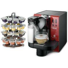 DeLonghi Red Lattissima Nespresso Capsule Espresso and Cappucino Machine with FREE Nifty 40 Carousel by Delonghi. $398.99