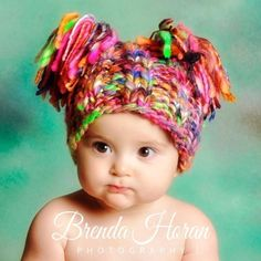 NEWBORN Photography Prop  Baby Knit Hat  Twin by knitwitwoolies