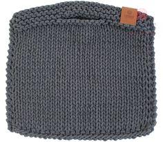 Ručně pletená kabelka B119 antracit