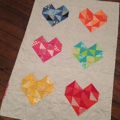 sweetheart quilt  by Blueberry Park, I would like this as a pillow or a table runner.