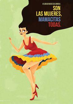 Dia Internacional de la Mujer. Marca Colombia.