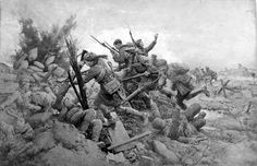 "Fortunino Matania: ""The Battle of Loos 1915""."