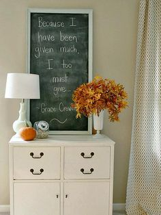 In a monochromatic space, a bouquet of bright leaves shines. (http://www.hgtv.com/decorating-basics/our-favorite-fall-decorations/pictures/page-29.html?soc=Pinterest)
