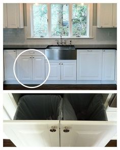 Haute Indoor Couture: Ikea Kitchen Renovation Part 1. Pull out trash solution