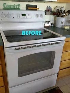 """I have the exact same stove and I will be stealing this!"" said a reader when she saw this brilliant stove transformation:"