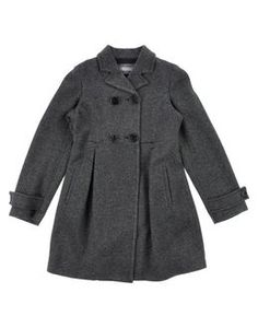 Pretty grey wool double breasted jacket for girls. Perfect to wear over a dress.