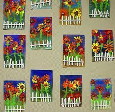 Lots of art ideas!  Photos and descriptions of student art projects being created by Kindergarten through 6th grade students at Raymond Central Elementary School. #artprojects
