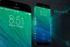 iPhone 6 concept with three-sided display  Designer Iskander Utebayev has created a concept of the iPhone 6 with 3 different displays.