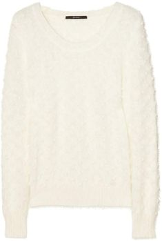 Cream mid-weight angora-blend polka dots, ribbed trims Slips on angora, polyamide Dry clean Michael Kors Skirts, Color Me Beautiful, Pamela Love, Cream Sweater, Suede Boots, Leather Skirt, Polka Dots, Gucci, Slip On