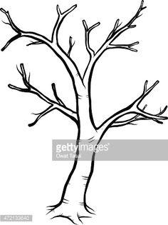 Vector Art : dead tree