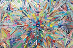 layered colour paintings - Google Search