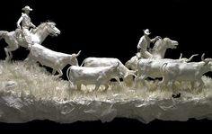 Vivid Paper Sculpture by Allen and Patty Eckman | The Design Inspiration