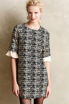 Tweeded Clemence Shift #anthrofave #anthropologie