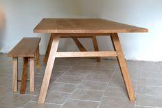Hooper Oak Dining Table. Handmade at Makers Bespoke Furniture http://www.makersbespokefurniture.com/bespoke-dining-tables.asp #dining #tables #dining room tables #kitchens