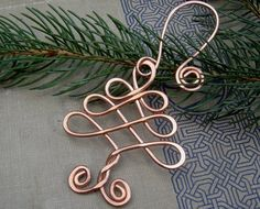 ... - Holiday Ornament - Copper Wire - Handmade Gift. $15.50, via Etsy